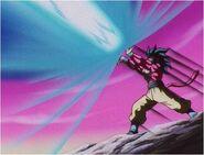 Super Saiyan 4 Goku Firing the 10x Kamehameha