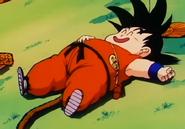 Kid Goku While Happily Full