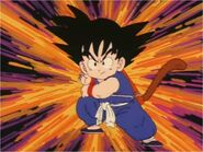 Goku Prepares His 1st Kamehameha