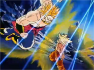 Goku Prepares to Punch Broly