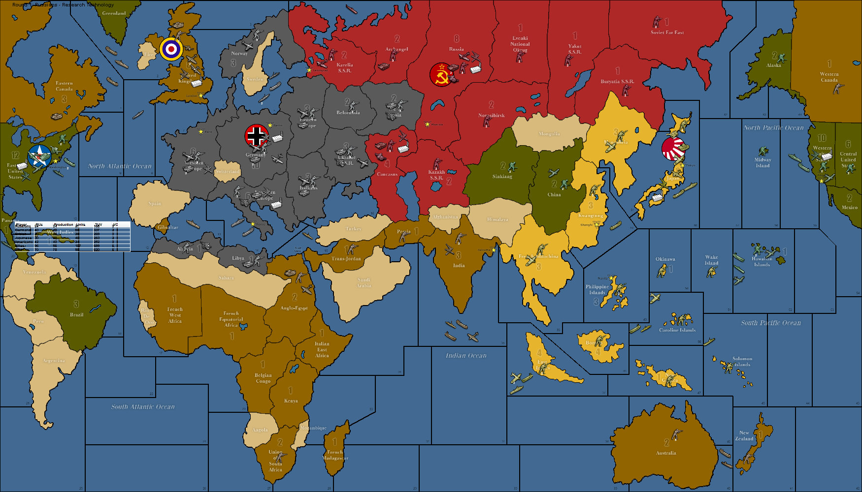 World War Ii Map | Laminatoff