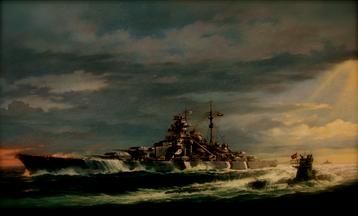 Bismarck and U-865 Off New Jersey