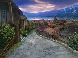 Ayakashi Werewolf Village Background