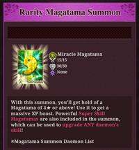 Rarity Magatama Summon
