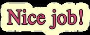 Fusing Nice Job Text