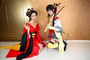 Jorogumo and Futsu-No-Mitama Cosplay