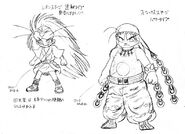 Assado's and Sly's original designs by Eiji