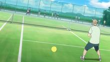 S1E5 Eiichiro hitting return ace