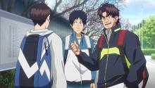 S2E7 Araya introducing Nishimura