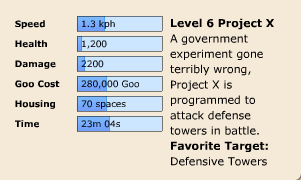 Project X Stats