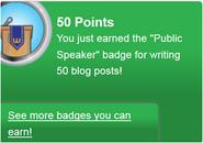 Public Speaker (earned)