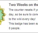 Twee weken in de wiki