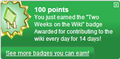Two Weeks on the Wiki (earned).png