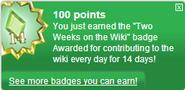 Two Weeks on the Wiki (earned)
