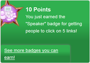 Speaker (earned)