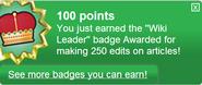 Wiki Leader (earned)