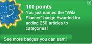 Wiki Planner (earned)