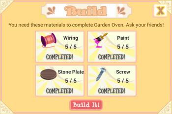 Garden Oven material