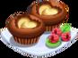 Oven-Coco Cream Muffin plate