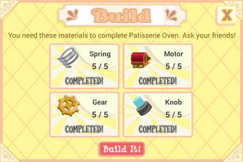Patisserie Oven parts