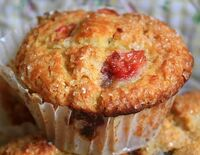 Sour cherry muffin