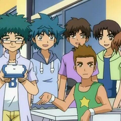Ryo wraz z kolegami z klasy