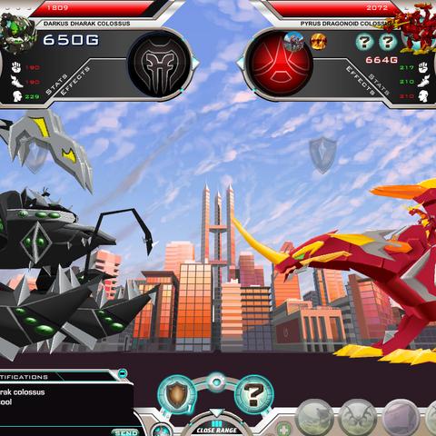 Dragonoid Colossus vs Dharak colossus