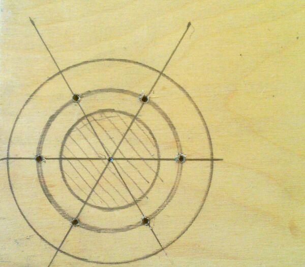 Making washer rim hole template - 01