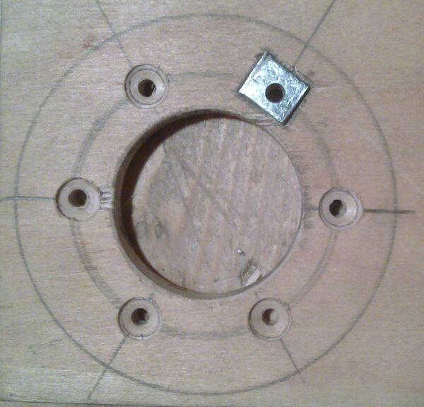 Making washer rim hole template - 14