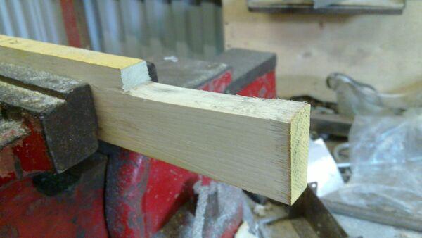 Making a wedge-sawing helper - 04