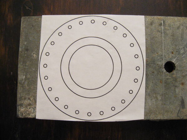 Making washer rim drilling template - 01