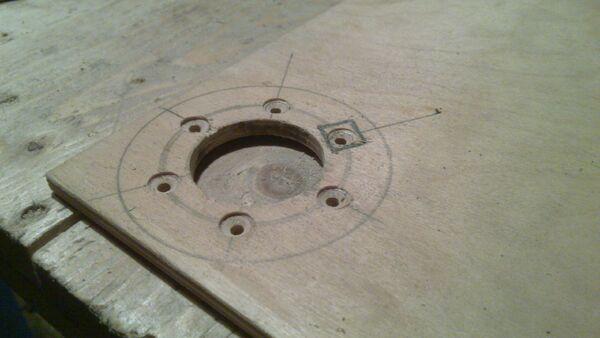 Making washer rim hole template - 12