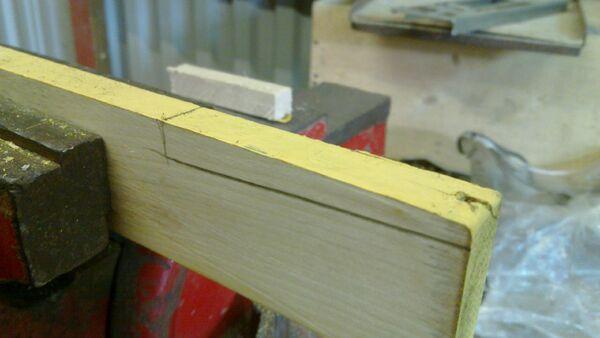 Making a wedge-sawing helper - 03