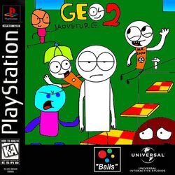 Geo Adventure 2 PS1 cover NTSC