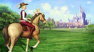 Corinne riding Alexander