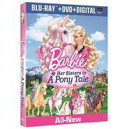 Barbie and Her Sisters in A Pony Tale Bluray DVD