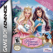 Barbie as the Princess and the Pauper Video Game GBA US Cover
