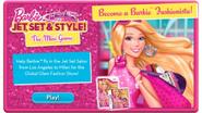 Barbie Jet, Set & Style! The Mini Game Main Menu