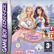 Barbie as the Princess and the Pauper Video Game GBA EU Cover 2