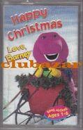 Happy Holidays Love Barney UK Cassette