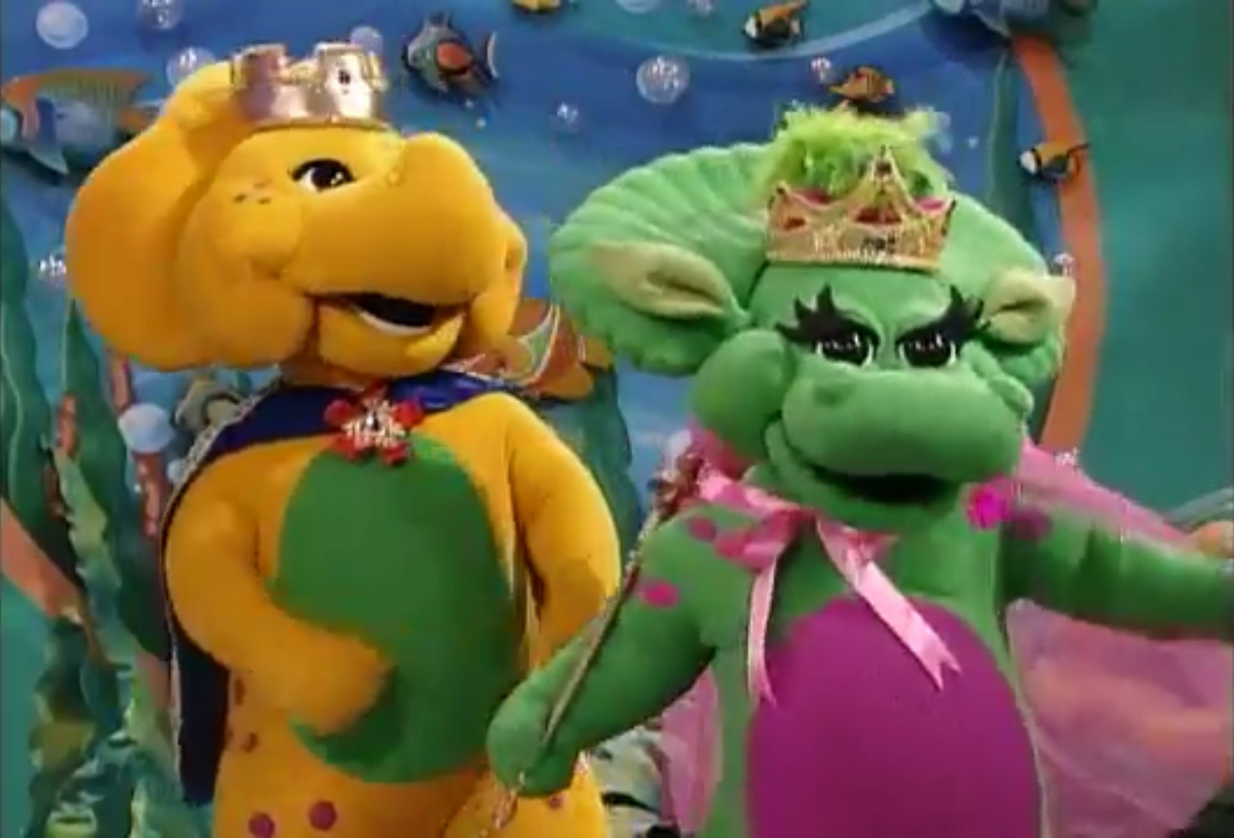 Image  King BJ and Queen Baby Bop  SDWBjpg  Barney Wiki