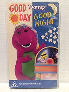 Barney's Good Day, Good Night 1998 Australian VHS