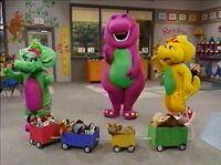 Barney who's who on the choo choo
