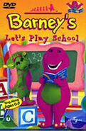 Barney's Let's Play School UK DVD Cover (2000)