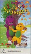 Barney's 1-2-3-4 Seasons 1997 Australian VHS