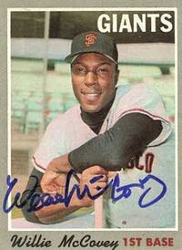 Willie mccovey autograph