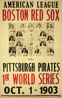 1903 world series poster