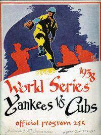1938 World Series Program