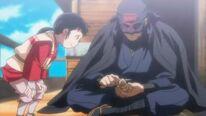 Koshirou and young passenger