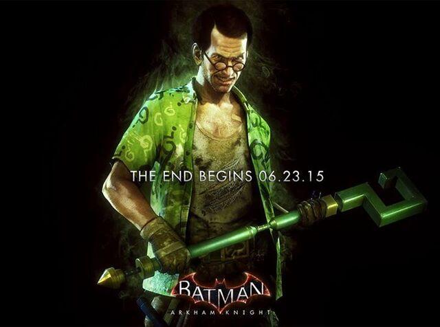File:The Riddler Batman Arkham Knight promo ad.jpg